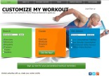 Customize My Workout home page screenshot